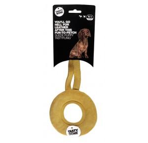 TastyBone TastyFling Suede Puppy Suede Donut Ring