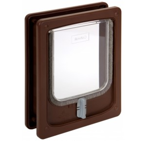 Catwalk catflap brown 4 stands