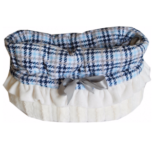 Pet Flys Reversible Snuggle Bug Plaid Blue