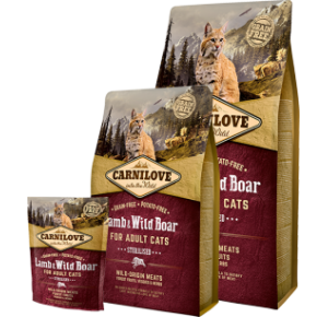 Carnilove Cat Grain Free Lamb & Wild Boar Adult Sterilised