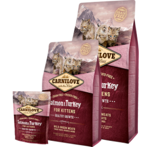 Carnilove Cat Grain Free Salmon & Turkey Kitten