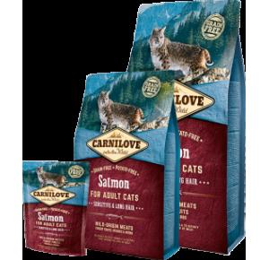 Carnilove Cat Grain Free Salmon Adult Sensitive & Long Hair