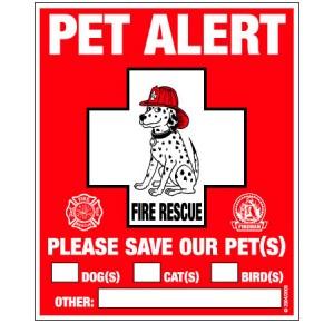 Pet Alert statisch sticker