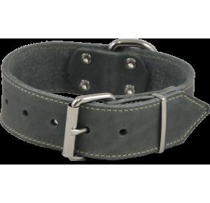 J & V Fat Leather Collar grey