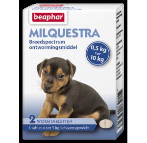Milquestra wormtabletten kleine hond / pup 2 tabletten