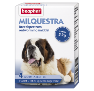 Milquestra wormtabletten hond 4 tabletten
