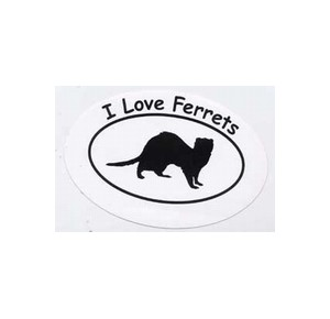 Sticker I Love Ferrets