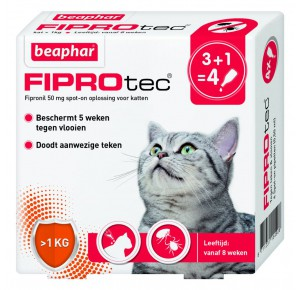 Beaphar Fiprotec Spot-On kat 3 pipetten