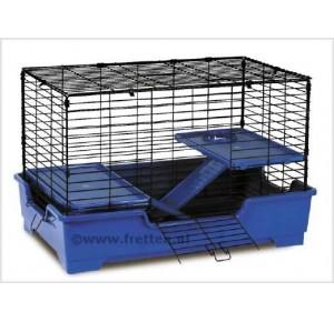 Super Pet Deluxe 3 level Care Home blauw/zwart